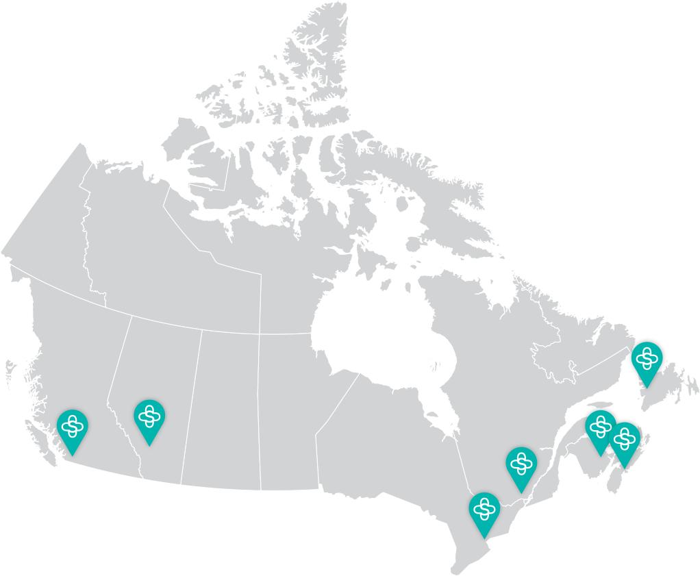 Sentrex Network throughout Canada